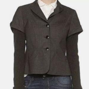 Hugo Boss Jacomina Wool blazer with knit sleeves